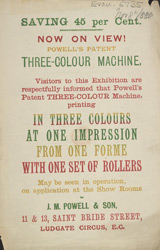 Advert For J. M. Powell & Son, Printer